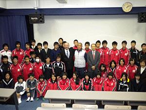 2010年岐阜県 美濃加茂高校での講演会
